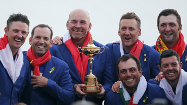 Members of the victorious European side at the 2018 Ryder Cup.