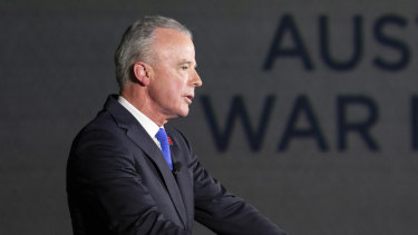 Australian war memorial director Dr Brendan Nelson is upfront about pursuing donations from arms manufacturers.