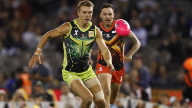 Charging forward: Patrick Cripps was in top form for team Rampage.