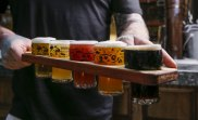 Bodriggy Brew Pub at 245 Johnston St, Abbotsford.  The Paddle of beer. Picture by Wayne Taylor 19th September 2019. The Age.