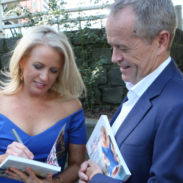 Chloe and Bill Shorten at her cookbook launch last year.