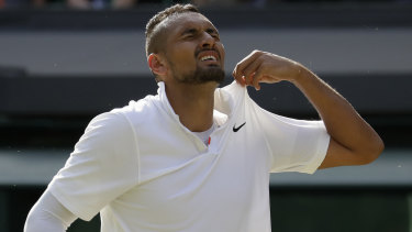 Nick Kyrgios lost an epic grudge match against Rafael Nadal.