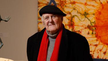 Artist John Olsen pictured in 2017.
