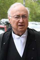 Ms Di Falco's barrister, Ron Meldrum, QC, leaves the Supreme Court on Tuesday.