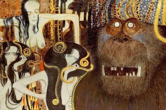 Detail of Gustav Klimt's Beethoven Frieze