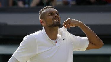 Nick Kyrgios lost an epic grudge match against Rafael Nadal.