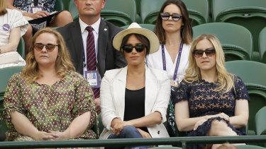 Meghan also wore a linen blazer to Wimbledon.