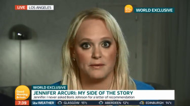 "Jennifer Arcuri told ITV's Good Morning Britain that it was ""categorically no one's business what private life we had or didn't have""."