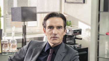 Ben Chaplin plays ruthless tabloid editor Duncan Allen in Press.