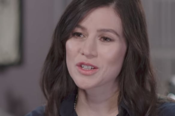 Actress Yael Stone speaking to Leigh Sales on 7.30.
