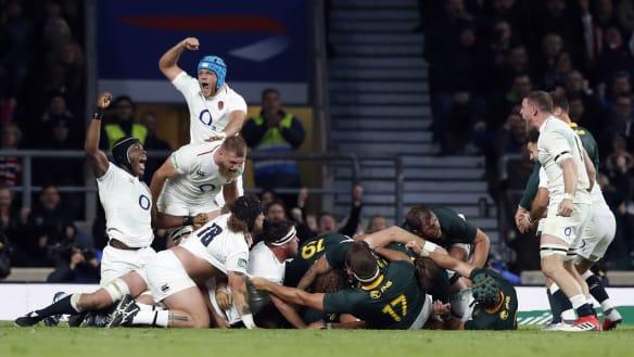 Depleted England scrape past the Springboks