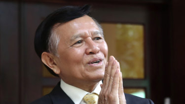 On trial: Cambodia National Rescue Party's President Kem Sokha.
