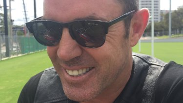 Blues brother: Brad Fittler in an uber cool pair of Beau Ryan shades.