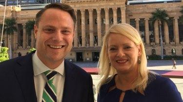 New lord mayor Adrian Schrinner and deputy Krista Adams.