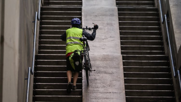 Transport for NSW says it is working to finalise plans for cycling ramps at both ends of the Sydney Harbour Bridge.