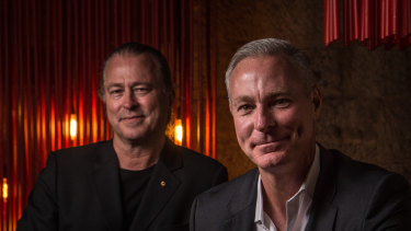 Neil Perry (left) and Rockpool Dining Group chief executive Thomas Pash.