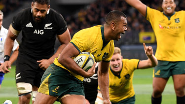 Kurtley Beale performed well at fullback against New Zealand on Saturday.