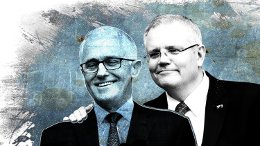 Same-same ... Malcolm Turnbull lacked courage on policy while he was strong, and Scott Morrison is making the same mistake.