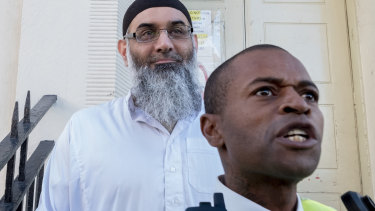 Anjem Choudary leaves a bail hostel in north London after his release from Belmarsh Prison in October.