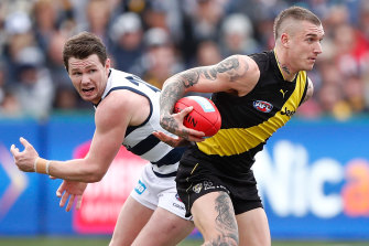 Patrick Dangerfield and Dustin Martin are both stars on the field but take very different approaches off it.