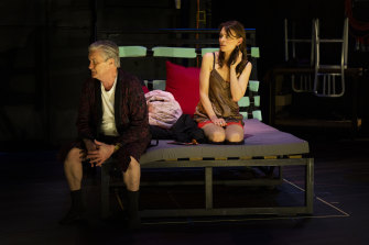 Kat Stewart and Peter Kowitz in MTC's Heisenberg.