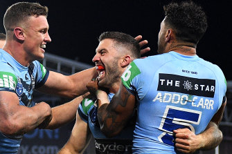 Could artificial intelligence have predicted James Tedesco's State of Origin series-winning try last year?