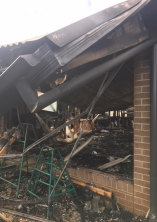 Devastation: Kool Kidz Tarneit was gutted in the blaze early on June 5, 2017.