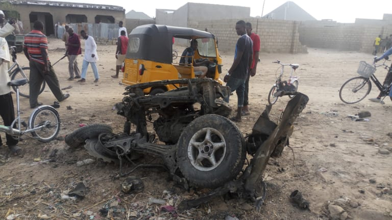 A recent suicide bomb attack in Maiduguri, Nigeria, where violence is common.