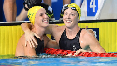 Headline act: Bronte and Cate Campbell are among the new leadership group for the Dolphins as the countdown to Tokyo heats up.
