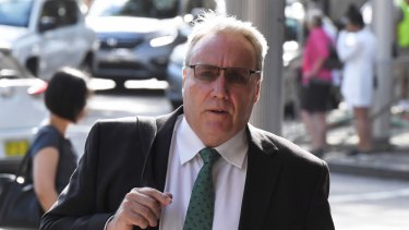 Michael Cranston arrives at the Downing Centre on Monday.