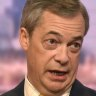 Brexit Party leader and former MEP, Nigel Farage on the Andrew Marr Show at the BBC in London in Fedruary.