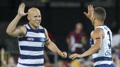 Geelong steamroll Brisbane to set up grand occasions for Ablett and Dangerfield