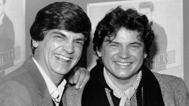 Phil, left, and Don Everly of the Everly Brothers in 1984. Don has died at the age of 84, seven years after Phil.