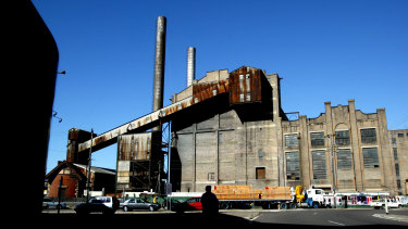 Heritage listed: the old White Bay power station.