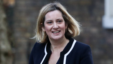Amber Rudd, the UK work and pensions secretary.