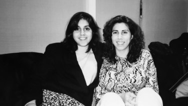 Elana Benjamin (at left) and her cousin Melissa in 1995.