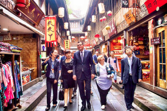 Daniel Andrews visiting Chengdu, China, in 2015.