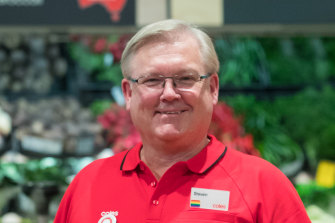 Coles chief executive Steve Cain is optimistic things will be largely back to normal by Christmas.