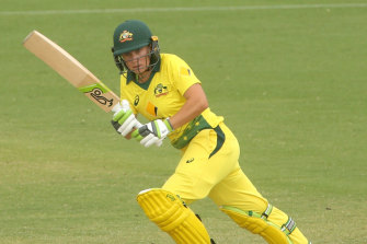 Alyssa Healy hit another ton, in the first one-day international against the West Indies.