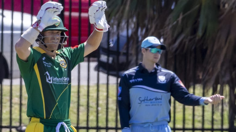 Serving their time: David Warner and Steve Smith have been playing Sydney grade cricket.