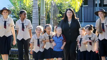 Education Minister Grace Grace at Stretton State College earlier this year.