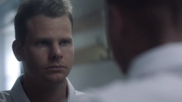 Wrong call? Steve Smith appears in the Vodafone ad.