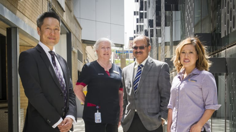 Professor Desmond Yip, clinical nurse consultant Wendy Spencer, haematologist Dr Nalini Pati and oncology pharmacist Beth Hua from the Canberra Hospital have returned from a trip to set up the Solomon Islands' first ever oncology department.