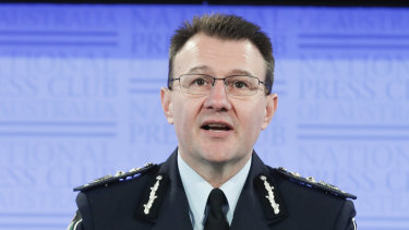 Australian Federal Police Commissioner Reece Kershaw warned he would name and shame companies which don't comply with requests.