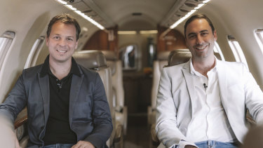 Alexander Robinson and Luke Hampshire are the founders of private jet startup Airly.