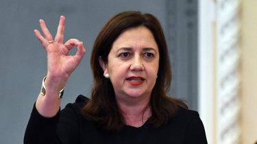 Queensland Premier Annastacia Palaszczuk intends to put a curb to political donations.