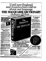 Advertisement for the Macquarie Dictionary, September 30, 1981.