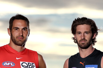 The Swans' Josh Kennedy and the Giants' Callan Ward are both fathers who are away from their families due to the coronavirus outbreak in Sydney.