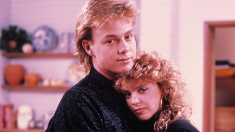 Jason Donovan and Kylie Minogue (Scott and Charlene) in their Neighbours heyday.