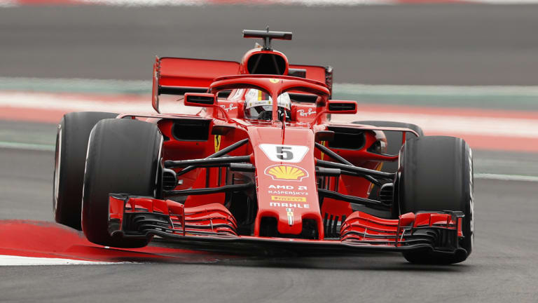 Contention: Ferrari's Sebastian Vettel is desperate to give the home fans some cheer this weekend.